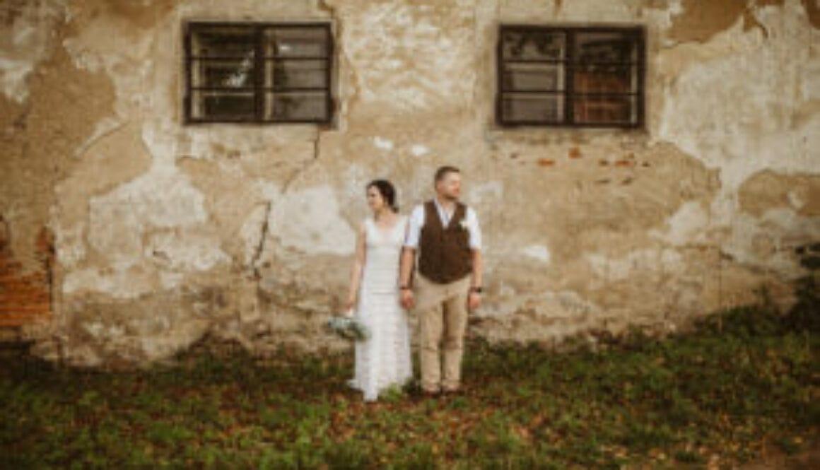 nevěsta v šatech tymomenty balonový zámek radešín